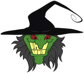 345x300 Free Witch Clipart