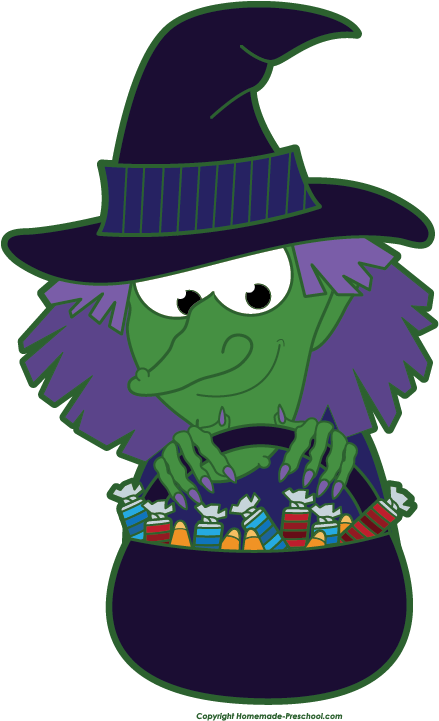 439x721 Free Clip Art Witch Clipart Image 2