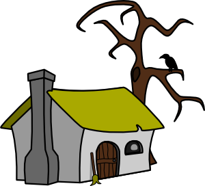 300x272 Witch Cottage Clip Art Free Vector 4vector