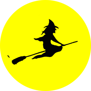 300x300 Witch Flying Clip Art