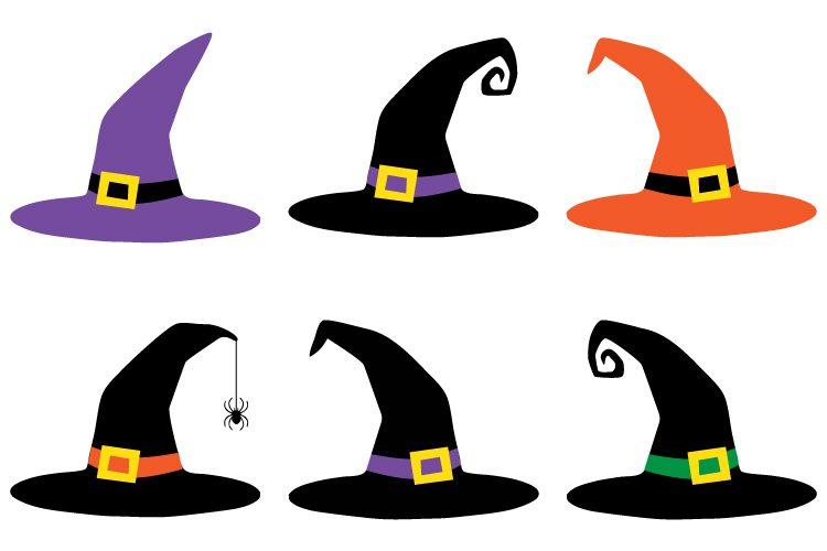 750x500 Witch Hat Cut Files + Clip Art