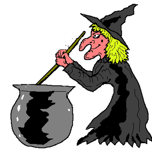 500x500 Witch Pictures Free Free Witch Stirring Her Cauldron Clip Art