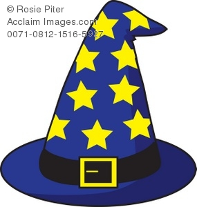 285x300 Royalty Free Clipart Illustration Of A Wizard's Hat With Stars
