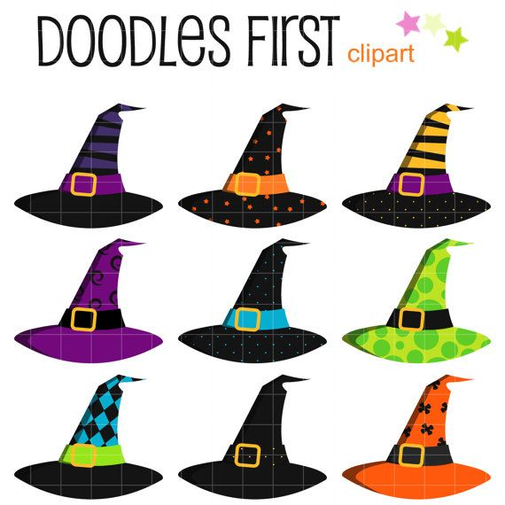 570x570 Witch Hats Digital Clip Art For Scrapbooking Card Making Cupcake