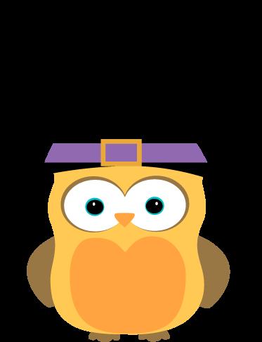 373x487 Halloween Witch Art Cute Owl Clip Art Image