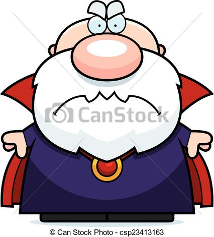 426x470 Cartoon Angry Wizard. A Cartoon Illustration Of A Wizard Clip