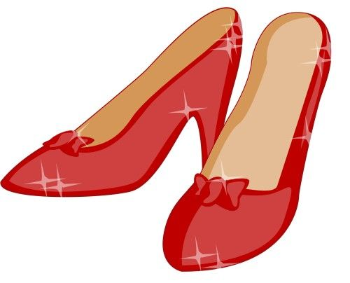500x404 Ruby Slippers Clip Art Ruby Slippers