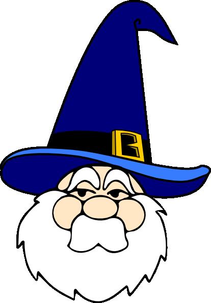 414x596 Wizard In Blue Hat Clip Art Free Vector 4vector
