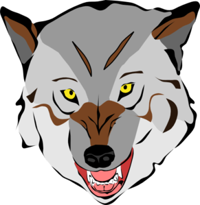 291x299 Gray Wolf Clipart Grey Wolf