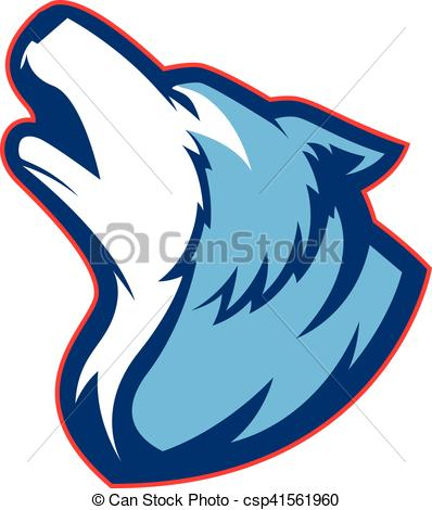 398x470 Howling Wolf Mascot. Clipart Picture Of A Howling Wolf Clip Art