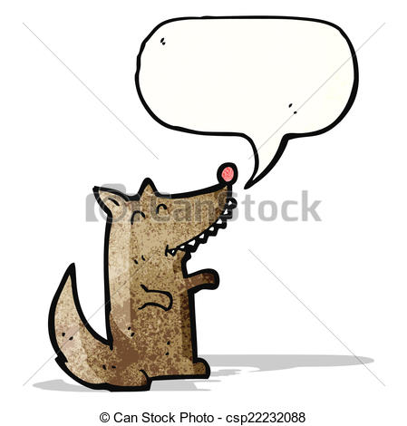 449x470 Little Wolf Cartoon Vector