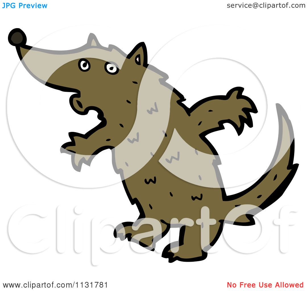 1080x1024 Cartoon Of A Brown Wolf Dog