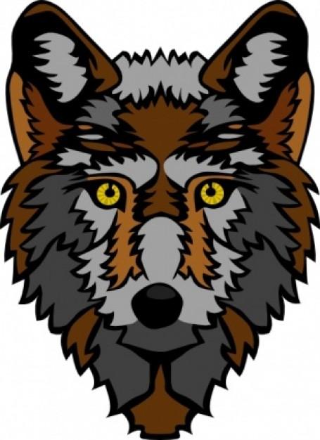 455x626 Stylized Wolf Head Clip Art Clipart Panda