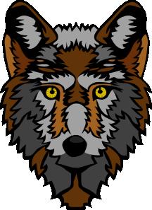 216x297 Stylized Wolf Head Clip Art