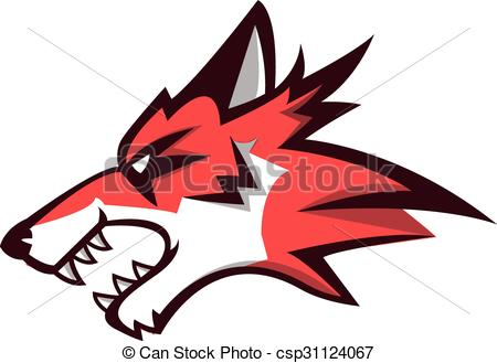 450x329 Wolf Angry Illustration Design Clip Art Vector