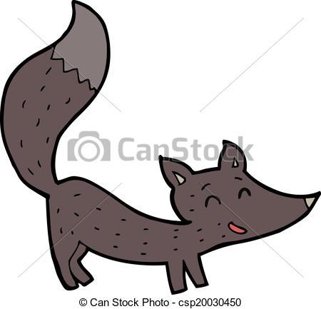 450x433 Cartoon Little Wolf Cub Clipart Vector
