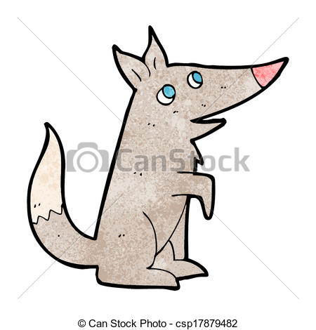 450x470 Cartoon wolf cub vector