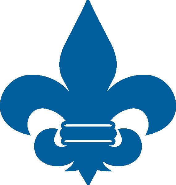 570x598 Cub Scout Blue Fleur De Lis clip art
