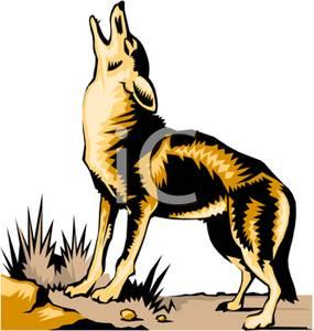 285x300 Howling Wolf Cub Clipart