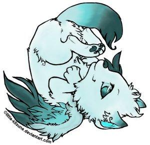300x291 Winged Wolf Cub by Wysper Lea on DeviantArt