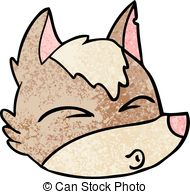 190x194 Cartoon Wolf Face Whistling Clipart Vector