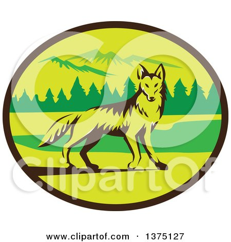 450x470 Clipart Of A Retro Black And White Coyote Face Wearing Sunglasses