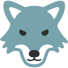 266x266 Emoji Android Wolf Face