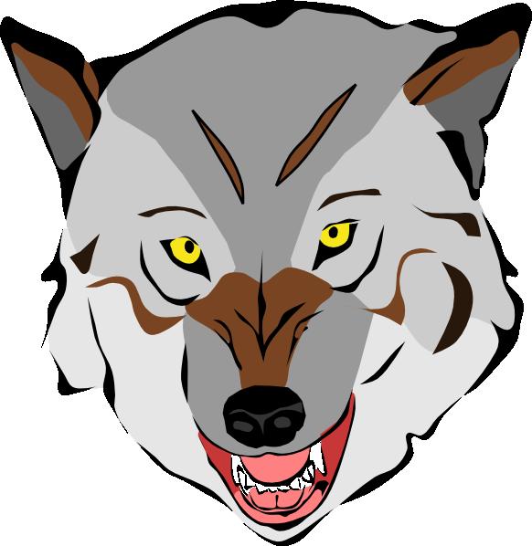 582x598 Grey Wolf Clip Art