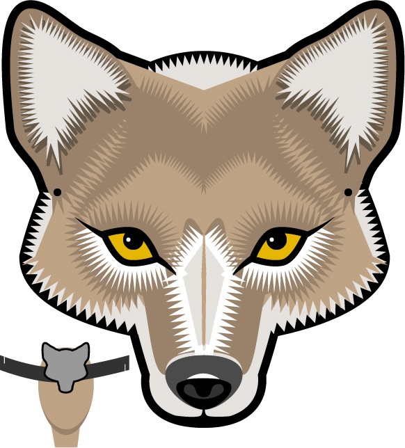 582x644 Mask Clipart Wolf