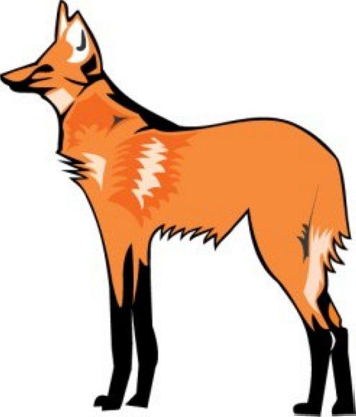 512x600 Orange Clipart Wolf