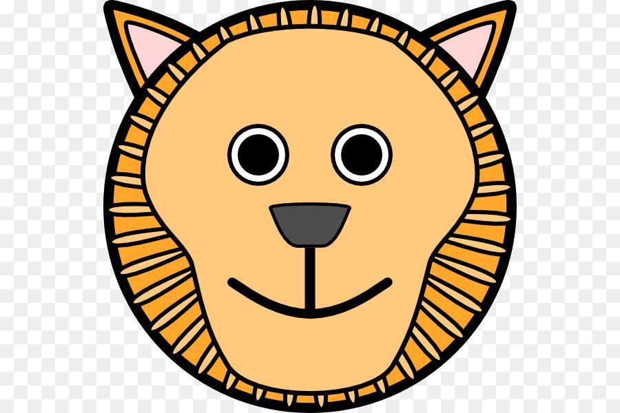 900x600 Bengal Tiger Lion Cartoon Face Clip Art