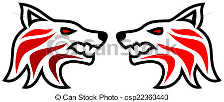 450x205 Tribal Tattoo Wolf Eps Vector