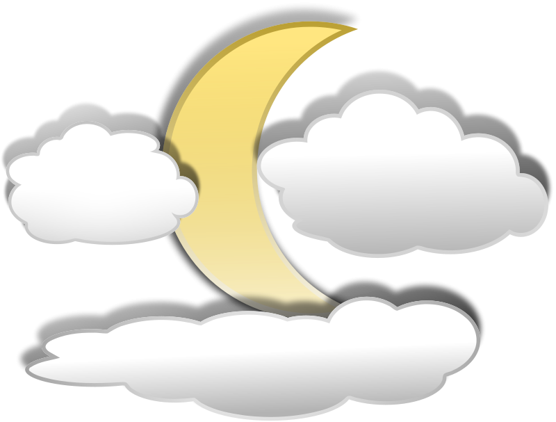 800x607 Fun Moon Clipart