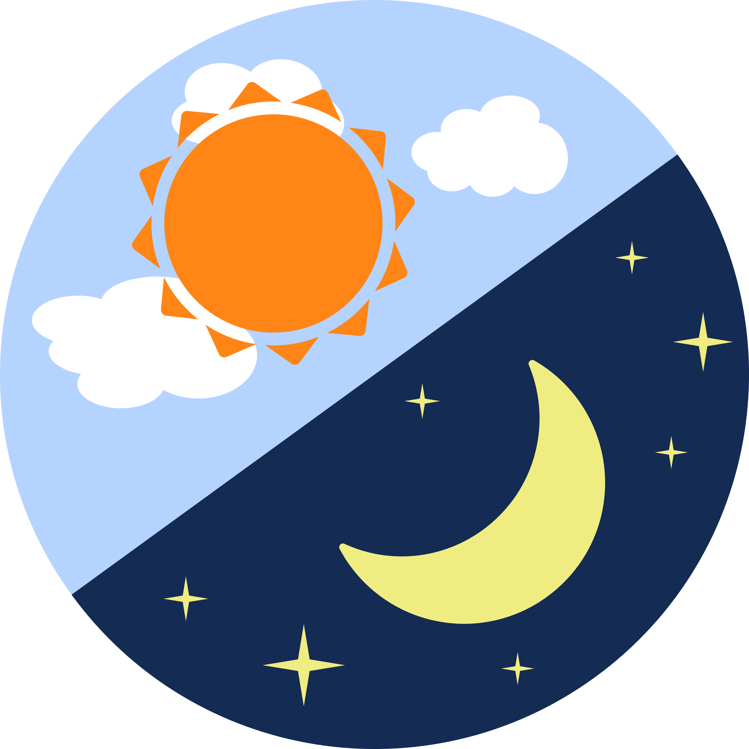 2400x2400 Night And Morning Sun Moon Clipart Cliparts Others Art