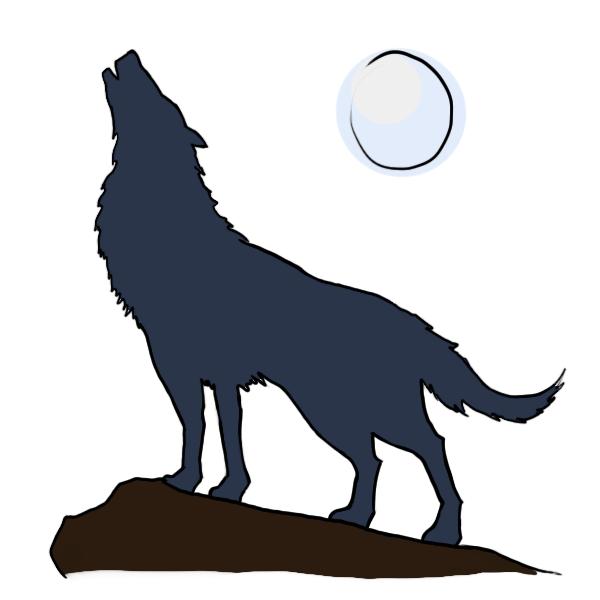 600x600 Howling Wolf Cartoon Pics