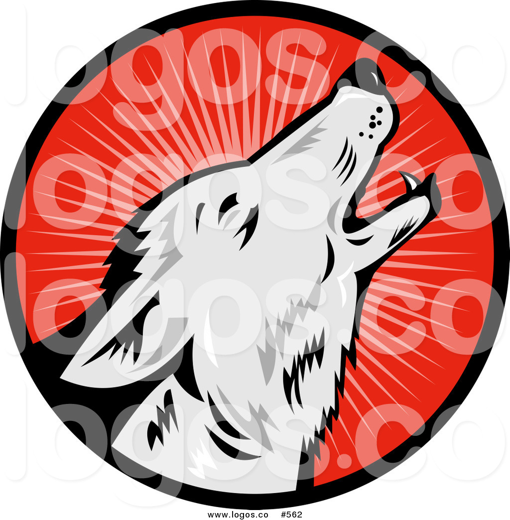 1024x1044 Royalty Free Vector Logo Of A Retro Wolf Howling By Patrimonio