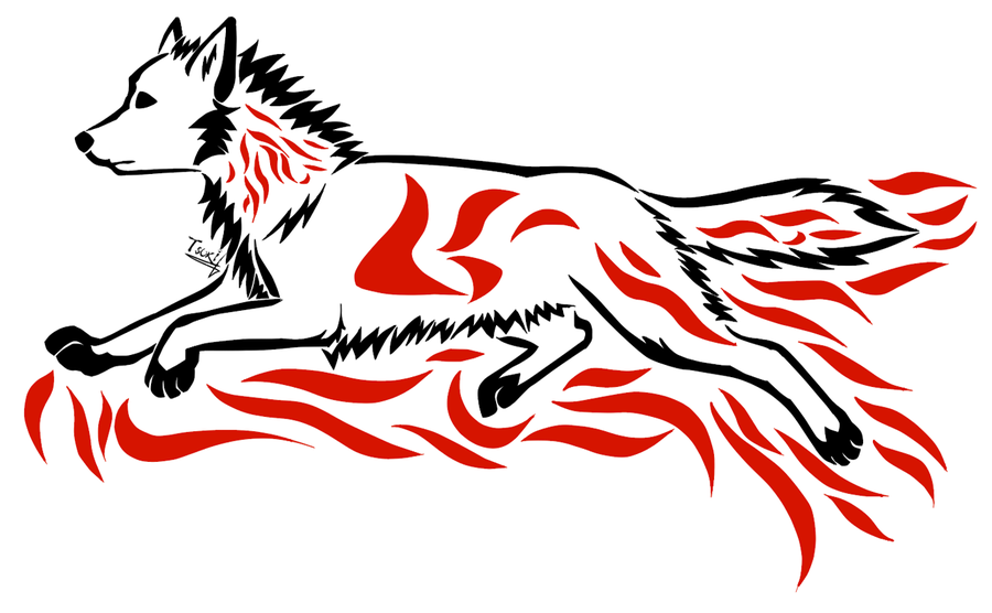 900x556 Running Wolf Tattoo Free Download Clip Art Free Clip Art