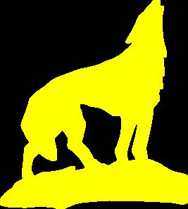 267x297 Yellow Wolf Clip Art