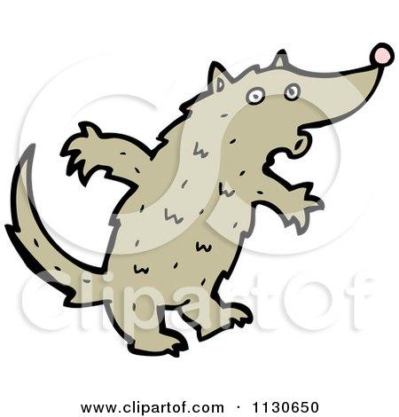450x470 Cartoon Of A Howling Wolf 1