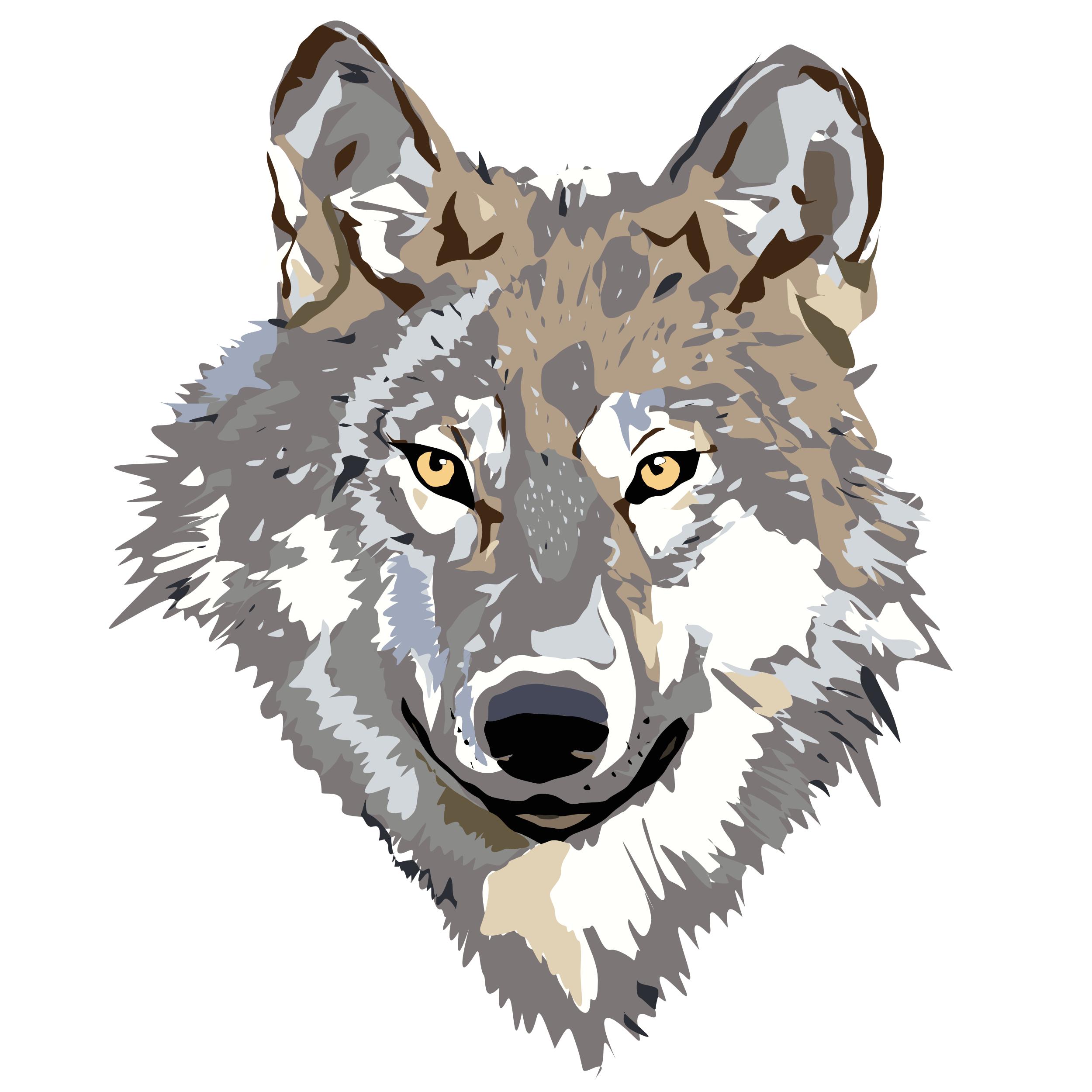 2500x2500 Clip Art Wolf Head Clip Art