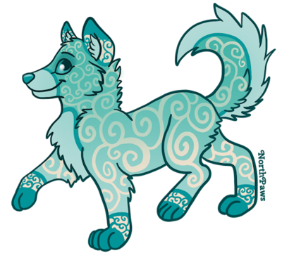 400x360 Closed Wolf Pup Adoptable