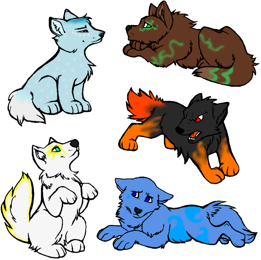 896x892 Elemental Wolf Pup Adopts By Rebastweeba