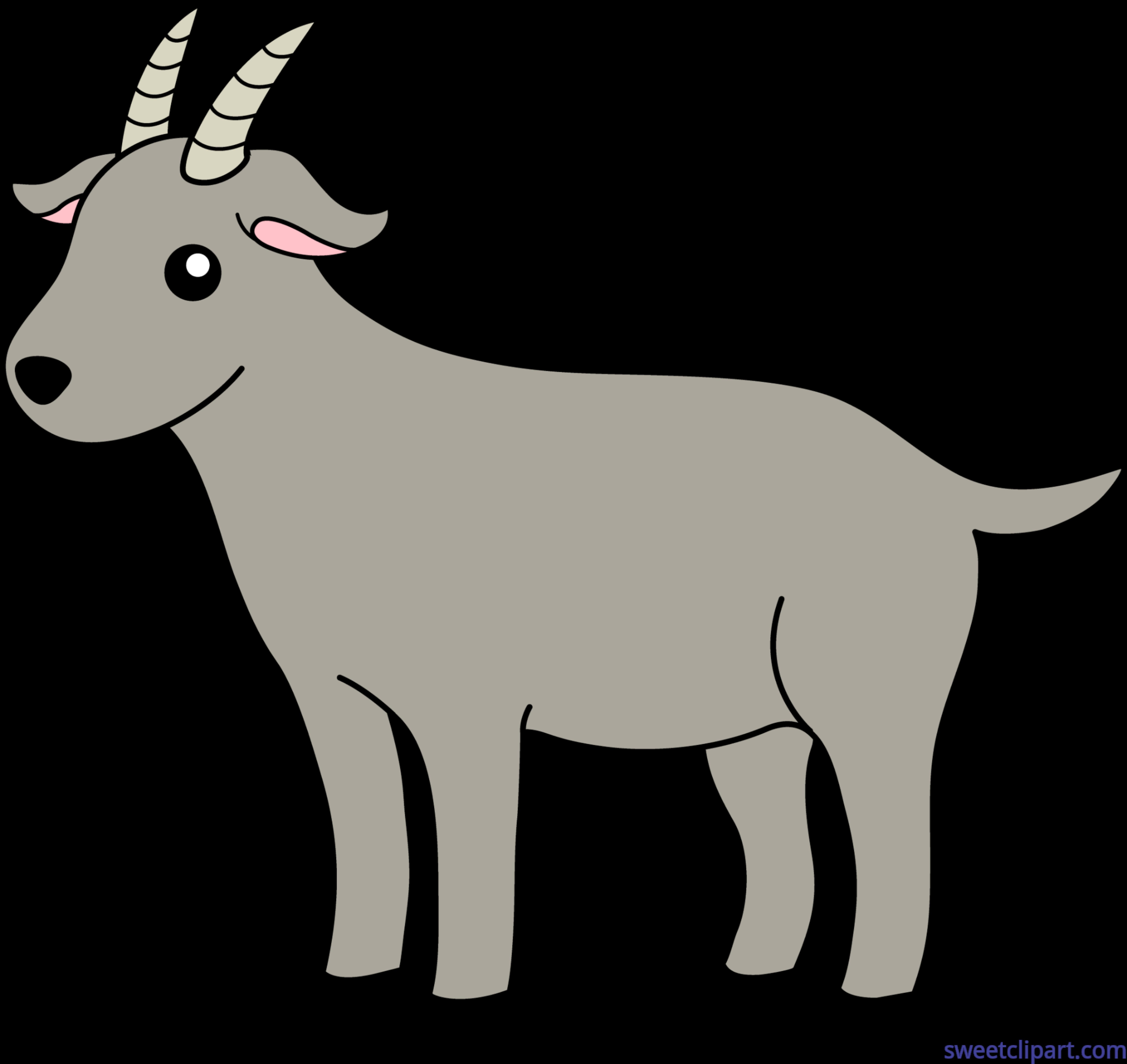 6445x6083 Goat Clip Art