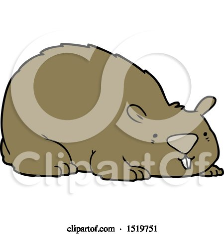 450x470 Royalty Free (Rf) Clipart Of Wombats, Illustrations, Vector