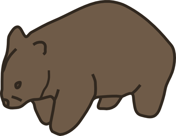 600x465 Wombat Clip Art Free Clipart Panda