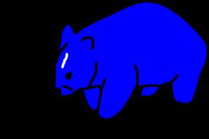 298x198 Blue Wombat Clip Art