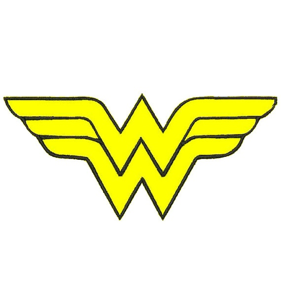 570x570 Lovely Wonder Woman Logo Clip Art 46