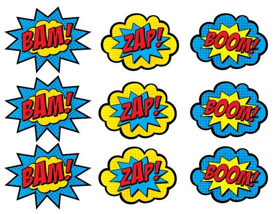 570x440 Superhero Clip Art Comic Bubbles Clipart Panda