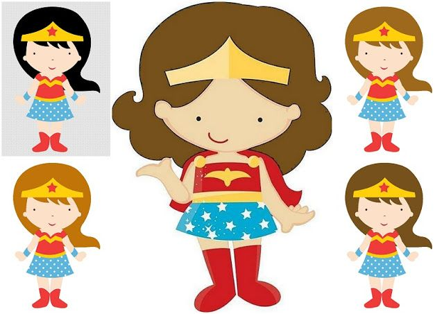 640x453 Wonder Woman Baby In Different Styles Clipart. Superhero