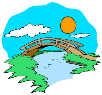 350x327 Bridge Blue Wonder Clipart